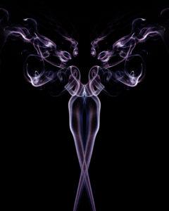 symmetric smoke artwork by James Conn