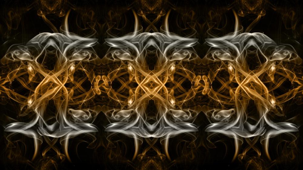 0696 - TriOverlay abstract smoke art